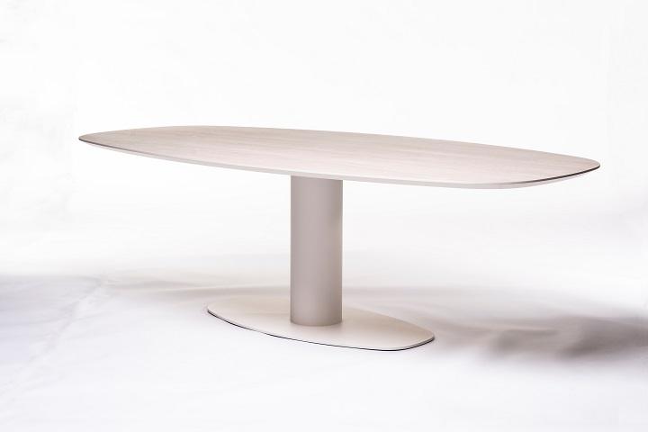 Orfis BOL-ovaal wood white (240x120cm)