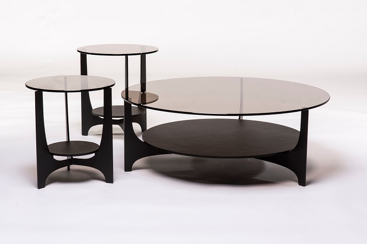 Parabol brons glas+keramiek opium black (set van 3)