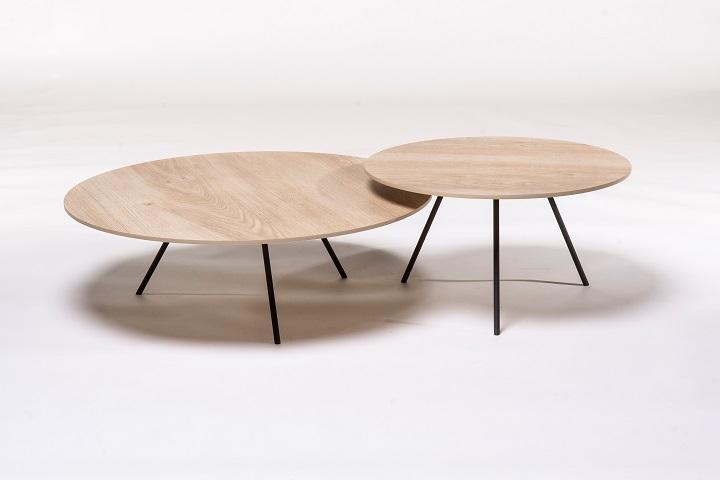 DP keramiek Wood naturel (set van 2)
