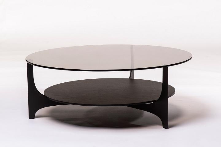 Parabol brons glas+keramiek opium black (salon)