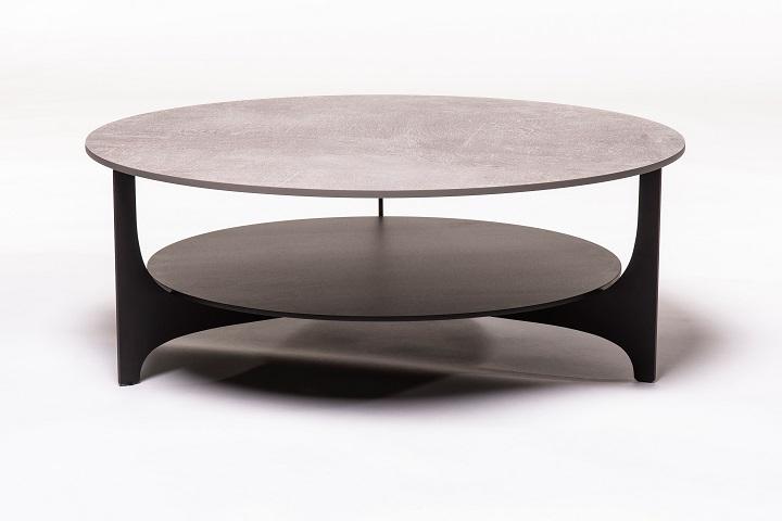 Parabol keramiek beton+zwart (salon)